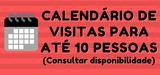 Calendário de visitas - até 10 pessoas - 2º semestre 2021